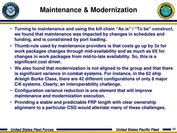 Maintenance &