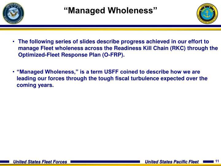 """""""Managed Wholeness"""""""