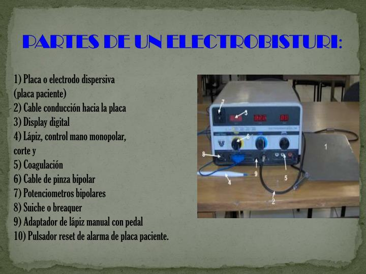 PARTES DE UN ELECTROBISTURI