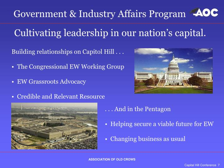Government & Industry Affairs Program