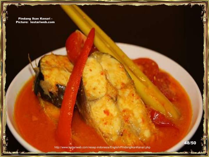 Pindang Ikan Kenari - Picture:  lestariweb.com