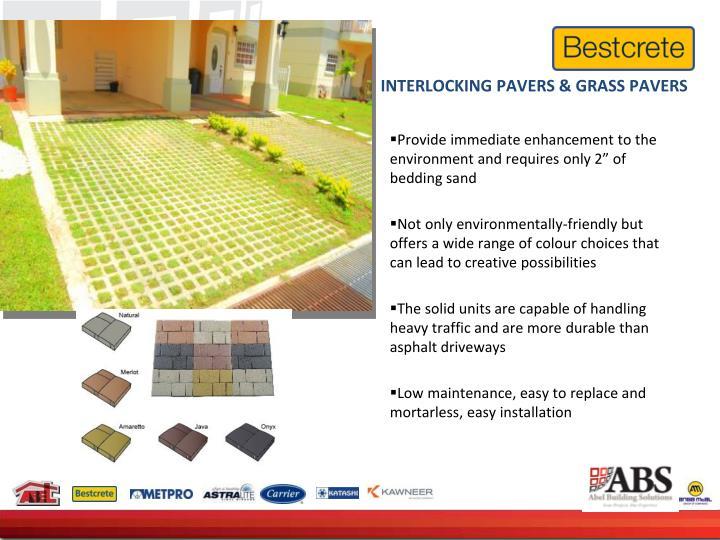 INTERLOCKING PAVERS & GRASS PAVERS