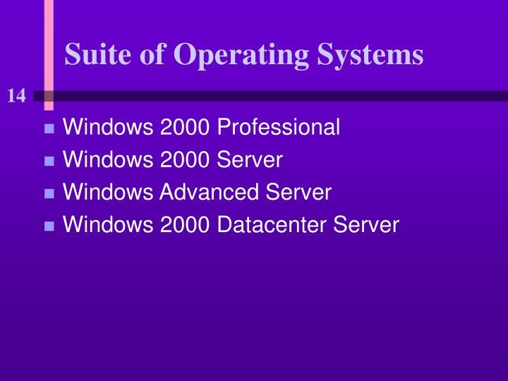 Suite of Operating Systems