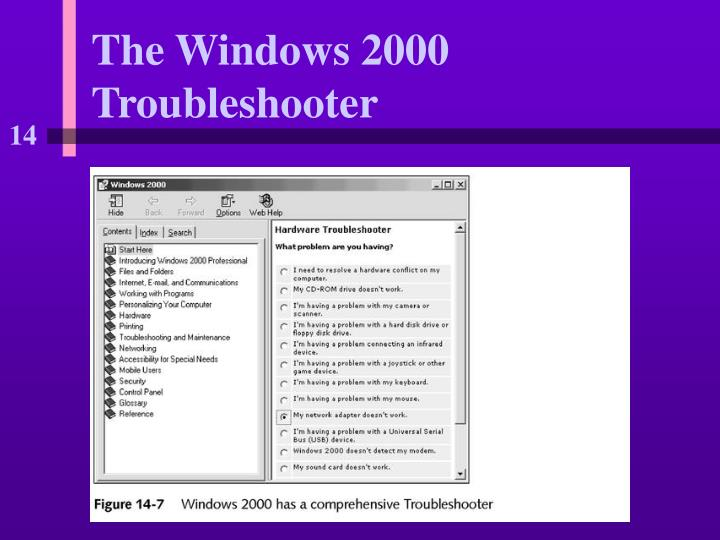 The Windows 2000 Troubleshooter