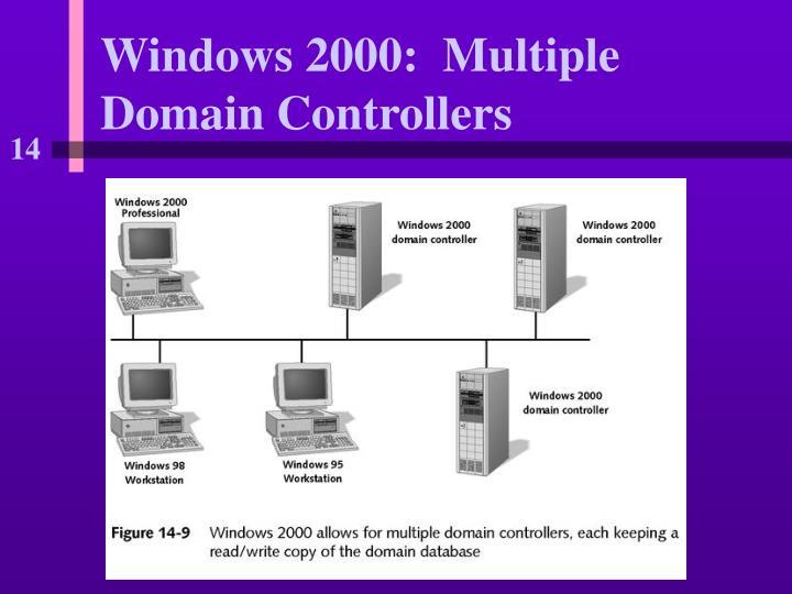 Windows 2000:  Multiple Domain Controllers