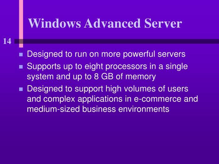 Windows Advanced Server