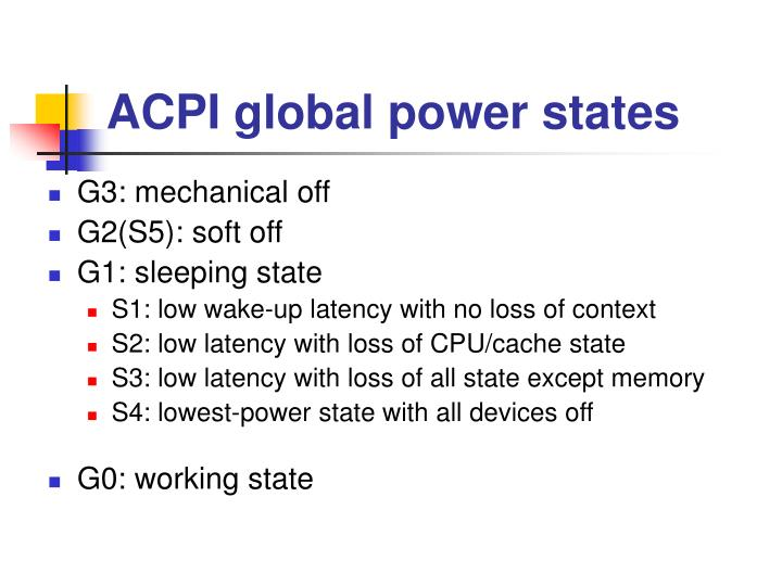 ACPI global power states