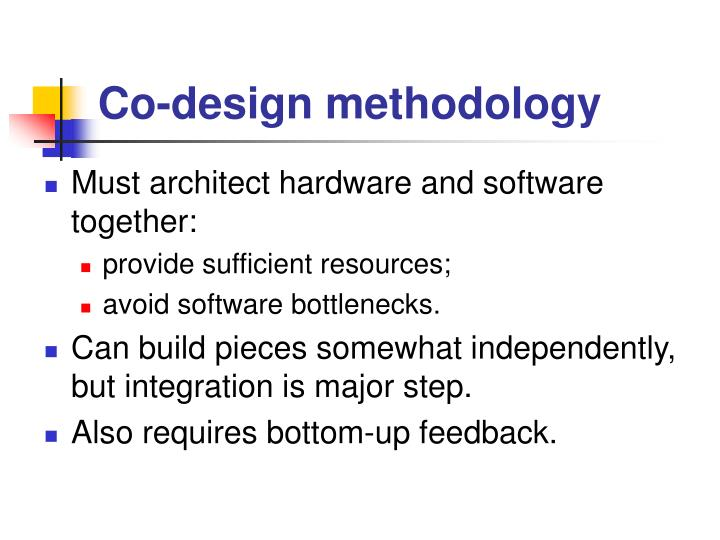 Co-design methodology