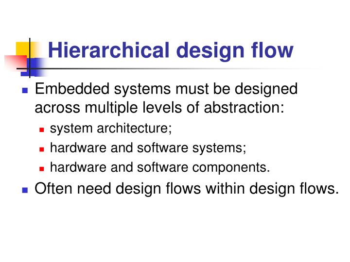 Hierarchical design flow