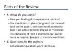 parts of the review2