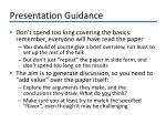 presentation guidance
