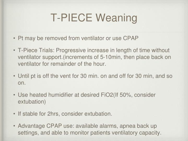 T-PIECE Weaning