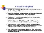 critical intangibles