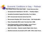 economic conditions in iraq postwar