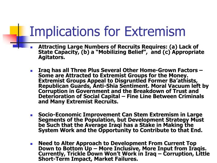 Implications for Extremism