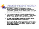 implications for extremist recruitment