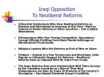 iraqi opposition to neoliberal reforms