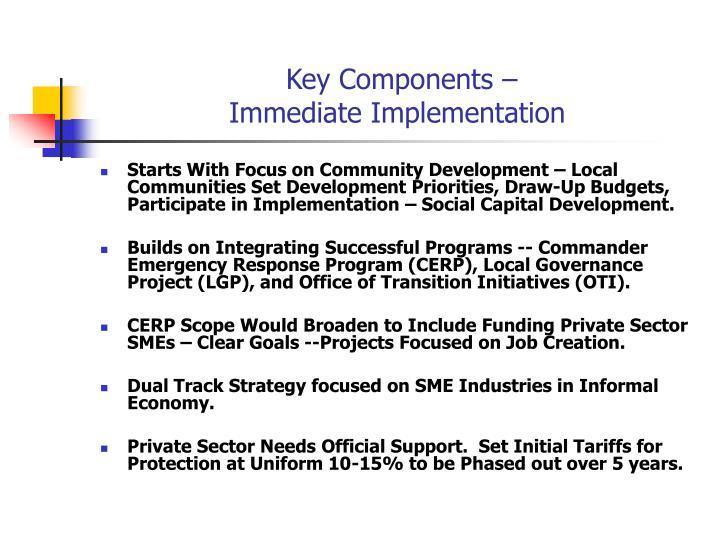 Key Components –