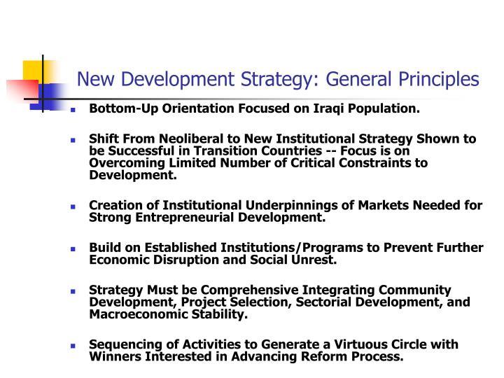 New Development Strategy: General Principles