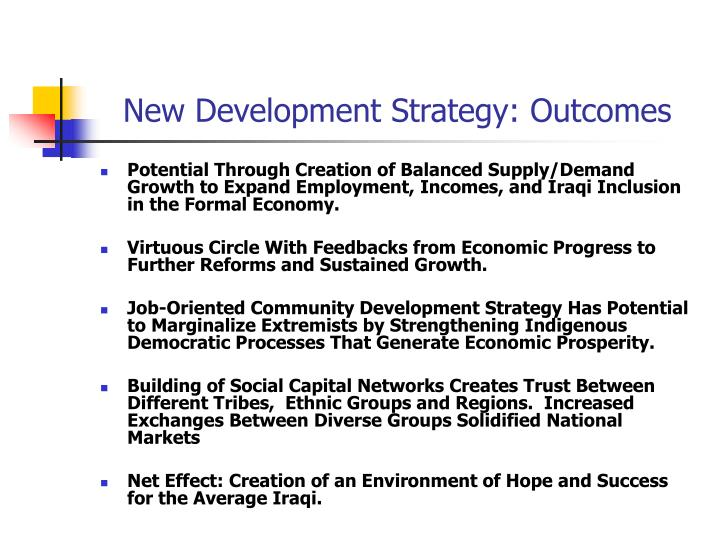 New Development Strategy: Outcomes