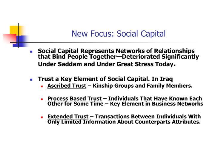 New Focus: Social Capital
