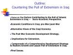 outline countering the pull of extremism in iraq