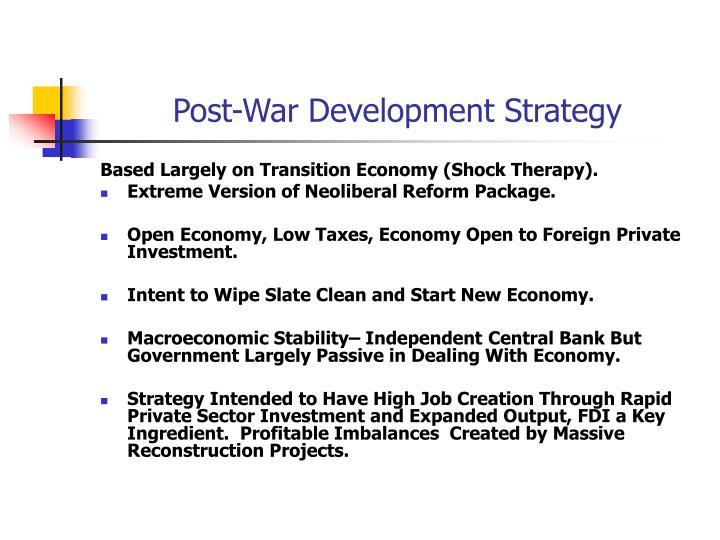 Post-War Development Strategy
