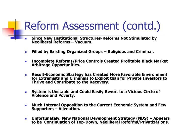 Reform Assessment (contd.)