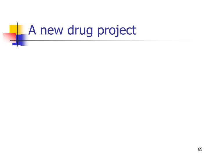 A new drug project