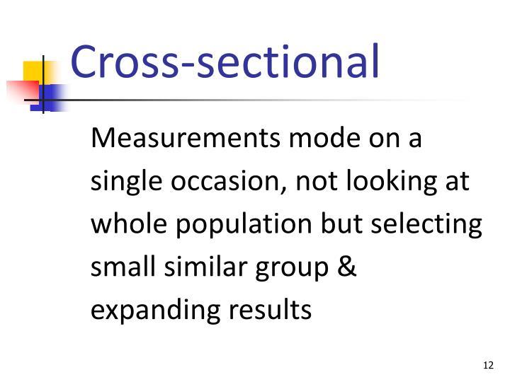 Cross-sectional