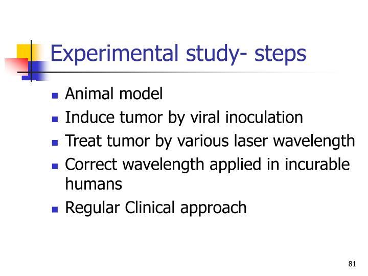 Experimental study- steps