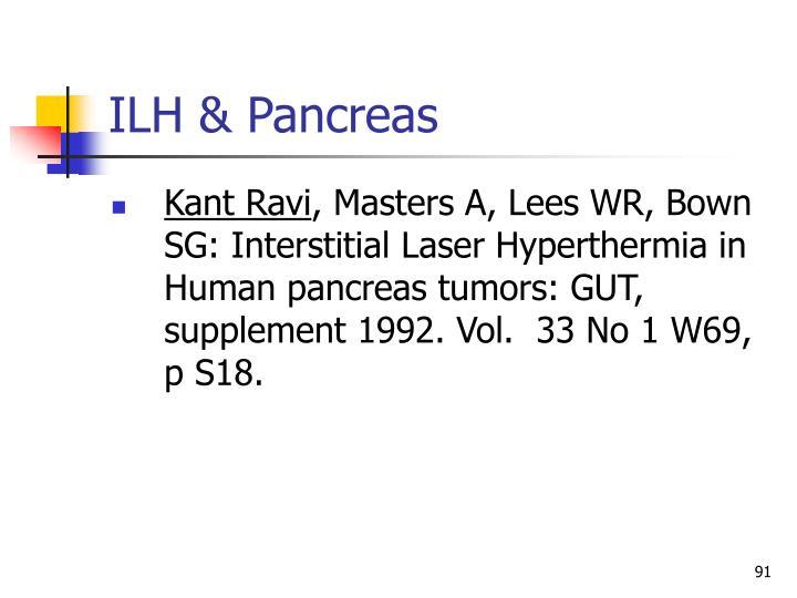 ILH & Pancreas