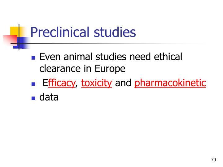 Preclinical studies