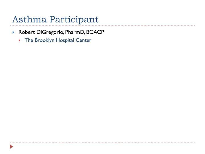 Asthma Participant