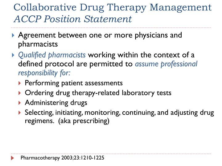 Collaborative Drug Therapy Management