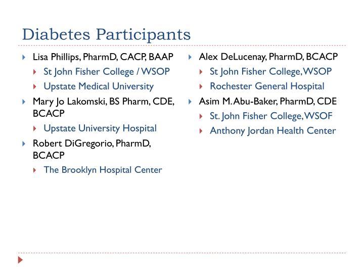 Diabetes Participants