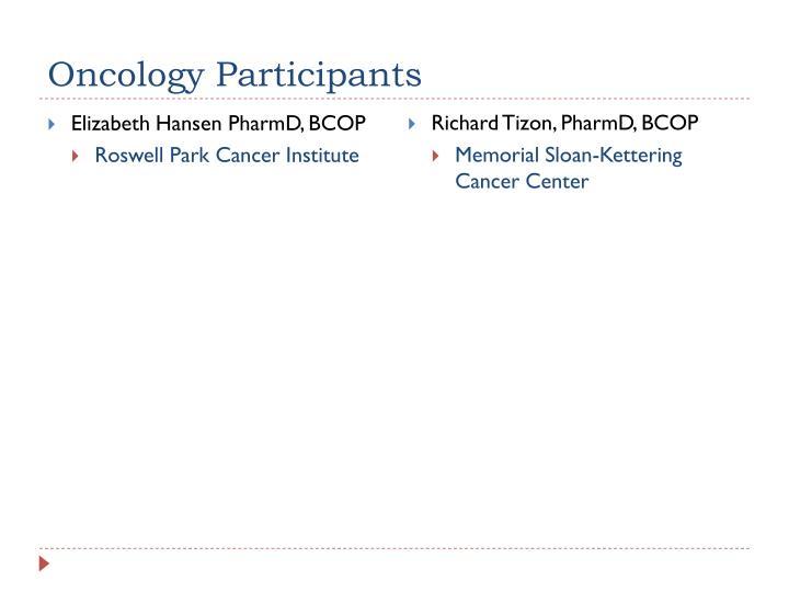 Oncology Participants