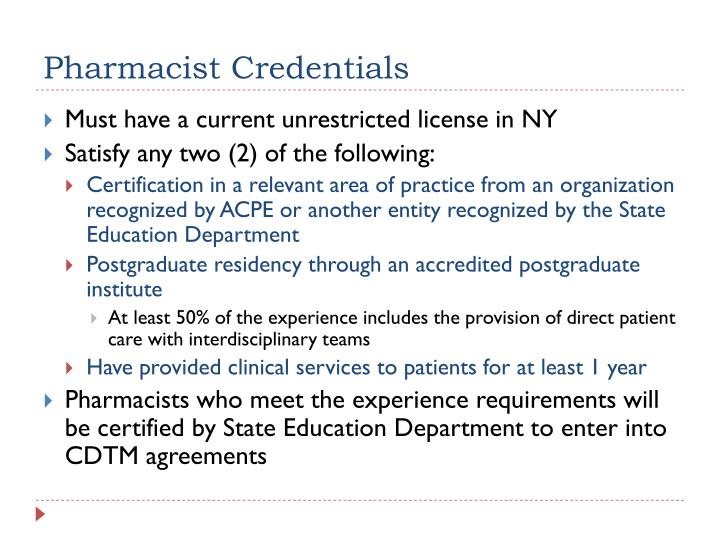 Pharmacist Credentials
