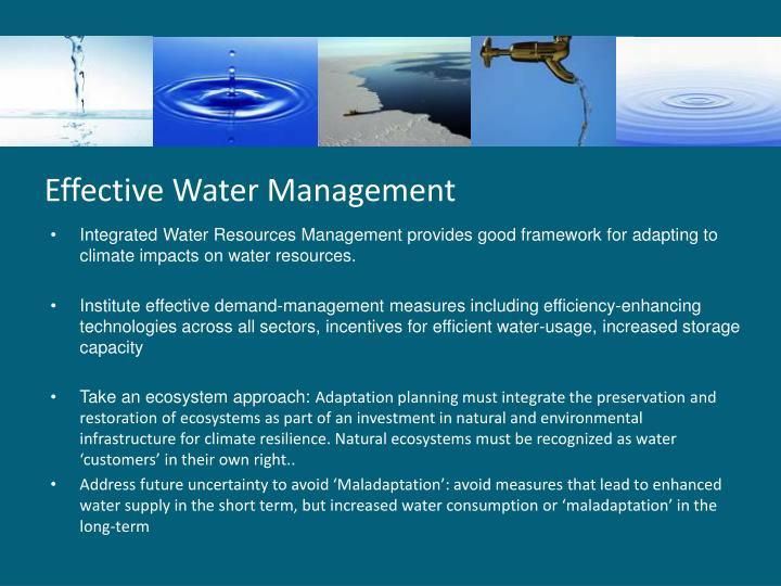 Effective Water Management