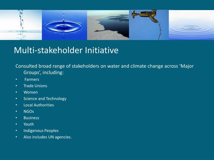 Multi-stakeholder Initiative
