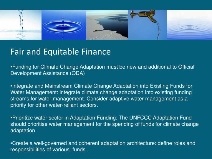 Fair and Equitable Finance