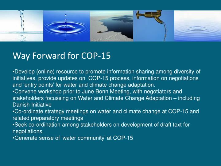 Way Forward for COP-15