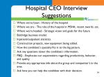 hospital ceo interview suggestions
