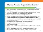 physician recruiter responsibilities overview