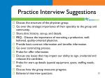 practice interview suggestions
