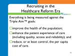 recruiting in the healthcare reform era