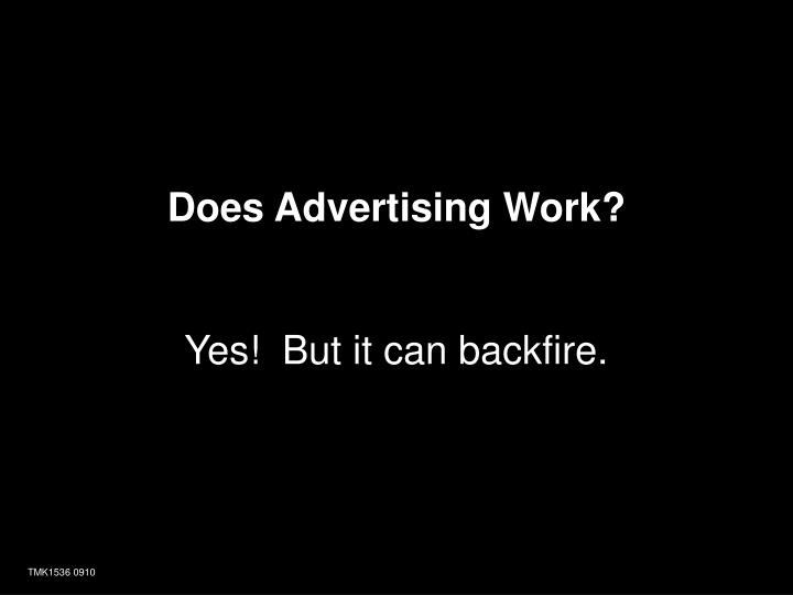 Does Advertising Work?