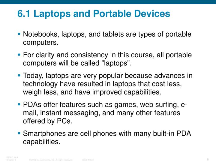 6.1 Laptops and Portable Devices