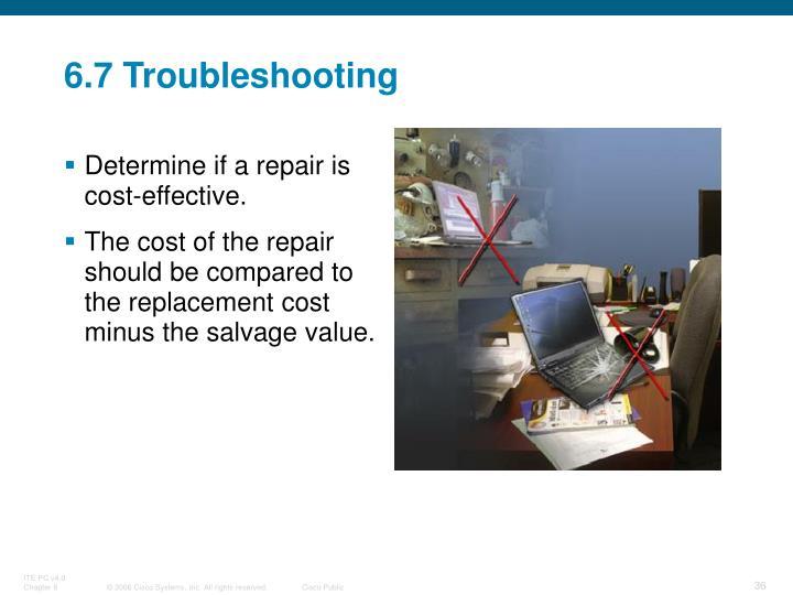 6.7 Troubleshooting