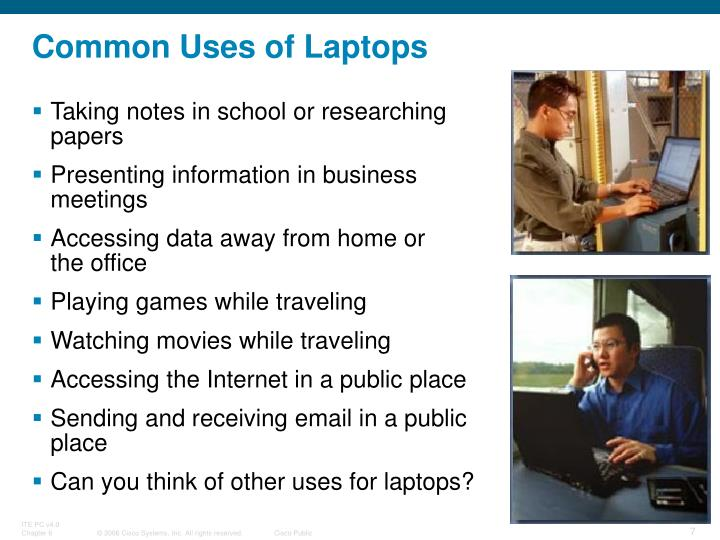 Common Uses of Laptops